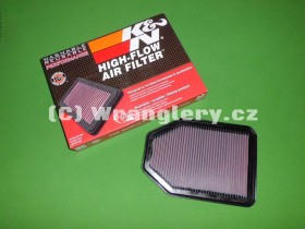 Filtr vzduchu KN pro Jeep Wrangler JK 3,8 V6